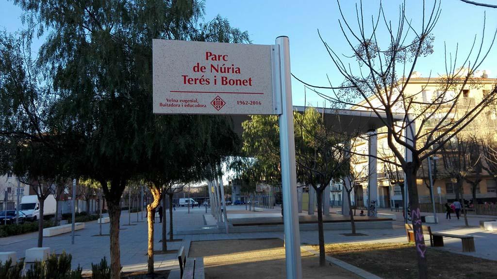 Un parc dedicat a Núria Terés Bonet