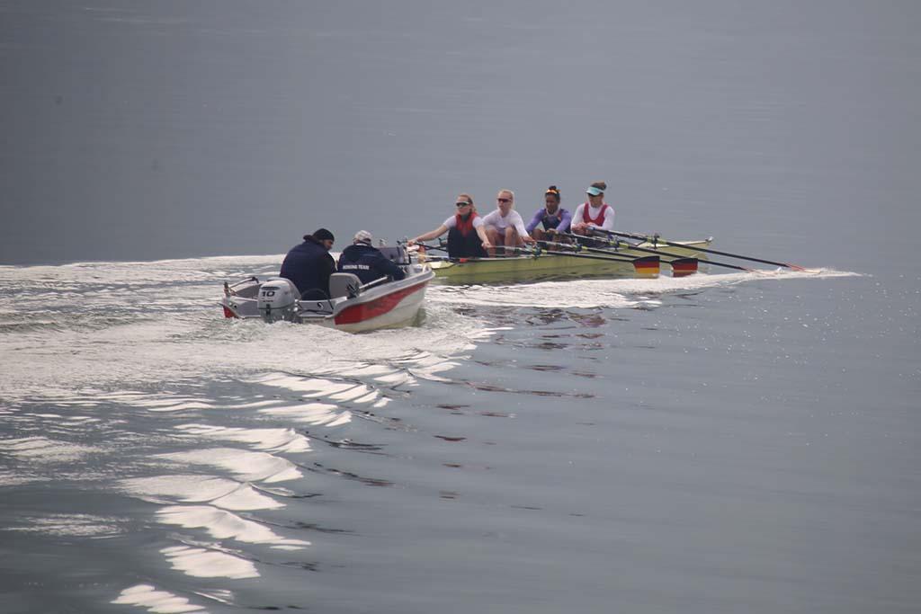 Torna la selecció alemanya de rem a Mequinensa