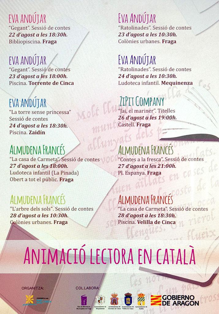 Animació lectora en català al Baix Cinca