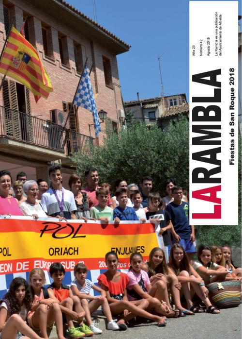 La Rambla 2018 i l'assecador de pernils d'Albelda