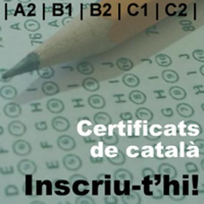 Convocatòria Generalitat de Catalunya de proves per a l'obtenció dels certificats de català 2018 B2 i C1 a Fraga