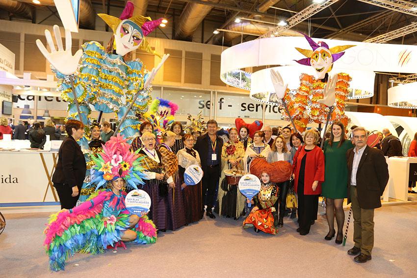 Les Festes de Sant Blas i Santa Águeda de Mequinensa  es presenten a FITUR com a Festa d'Interès Turístic d'Aragó