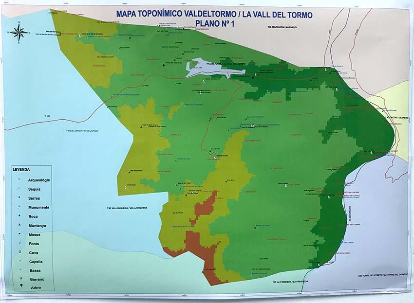 La toponímia de la Vall del Tormo