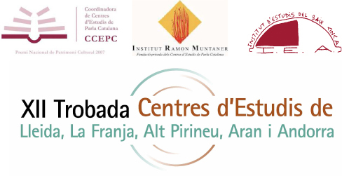 XII Trobada de centres d'estudis de Lleida, la Franja, Alt Pirineu, Aran i Andorra