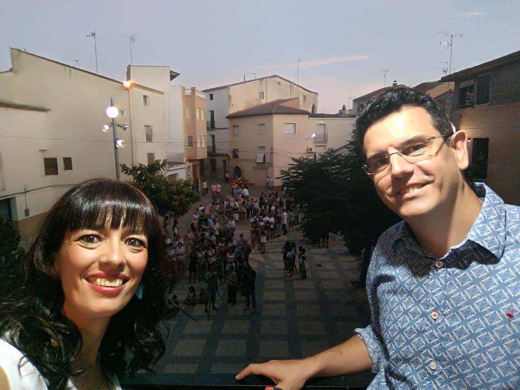 """Los coordinadors del projecte """"Fem memòria"""", pregoners de les Festes de Saidí"""