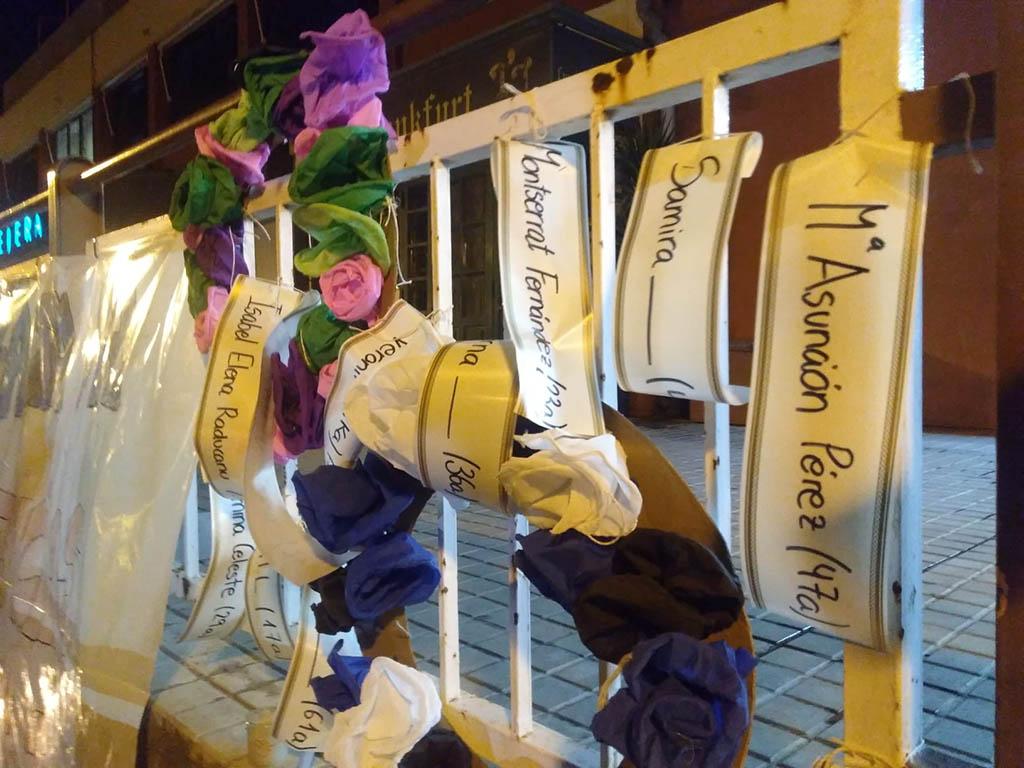 Manifestació a Fraga contra la violència masclista