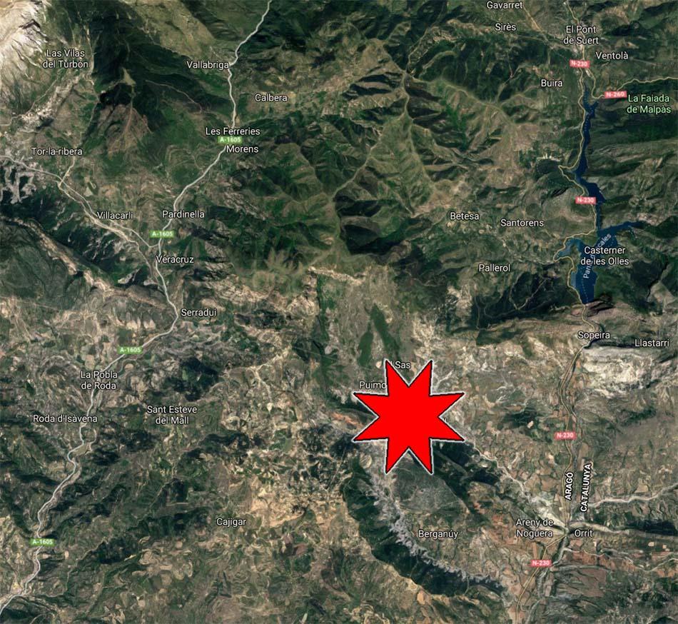Un terratrèmol a Areny de Noguera, espanta els veins de la Ribagorça