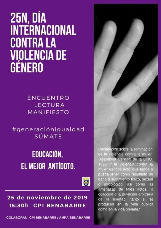 25è Dia Internacional Contra la Violència de Gènere