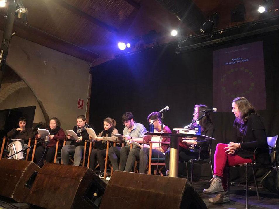 'Arbàgel', interpretat pels actors del CFGS de l'Aula de Teatre de Lleida