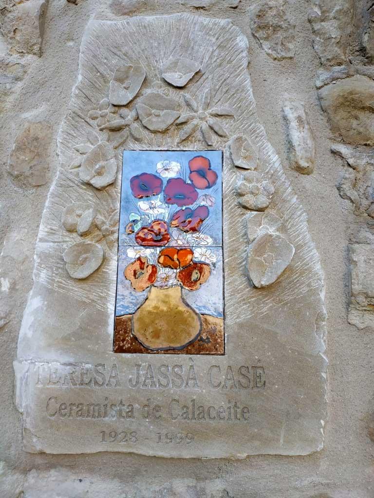 Homenatge a Teresa Jassà Casé a Calaceit. Lo foc i la paraula