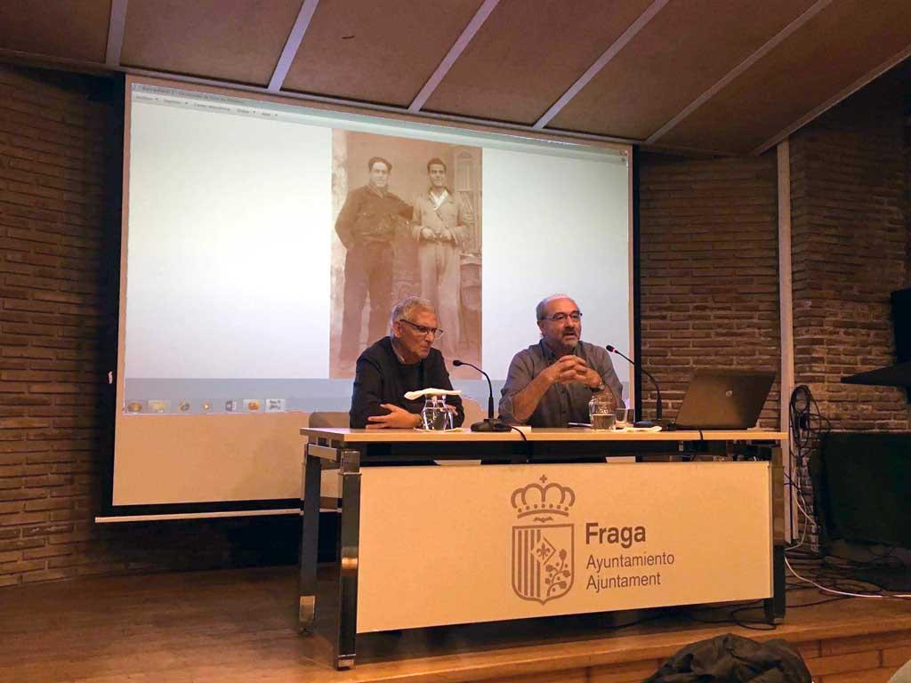 Presentació a Fraga el llibre de J. M. Calvo  'Dentro de poco os podré abrazar'*