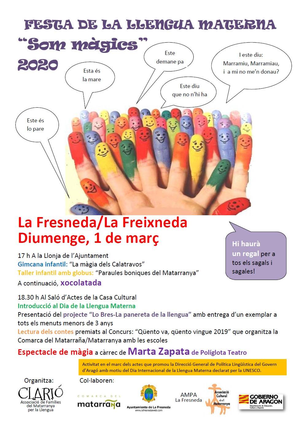 """Festa de la llengua materna """"Som màgics"""" a la Freixneda"""