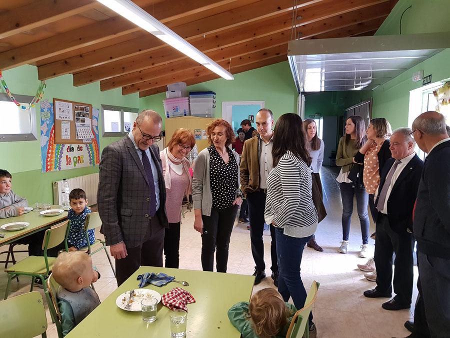 Visita del Conseller d'Educació, Cultura i Esports Felipe Faci