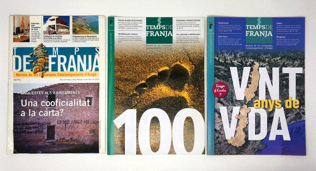 La revista Temps de Franja fa vint anys*