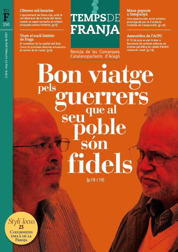 José Antonio Carrégalo, Pasqual Vidal i 'Temps de Franja',  Premis Desideri Lombarte 2021